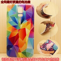 Flower Cartoon 3D Touch Battery Door Back Housing Cover Case For Samsung Galaxy S5 i9600