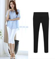 2014 new women's female slim casual capris pants legging 7 plus size shorts women's