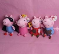 4pcs/lots  hot sale fairy Peppa superman George Pig friends family Plush Toy Peppa Pig Stuffed Animals Dolls baby toys