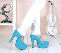 free shipping fashion high heeled single shoes pumps wedding shoes waterproof  3-8