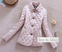 2014 Parkas For Women Winter Coat Jacket Women Outerwear Argyle Down Cotton Thick Warm Short  Down Jacket Parka Jaqueta Feminina