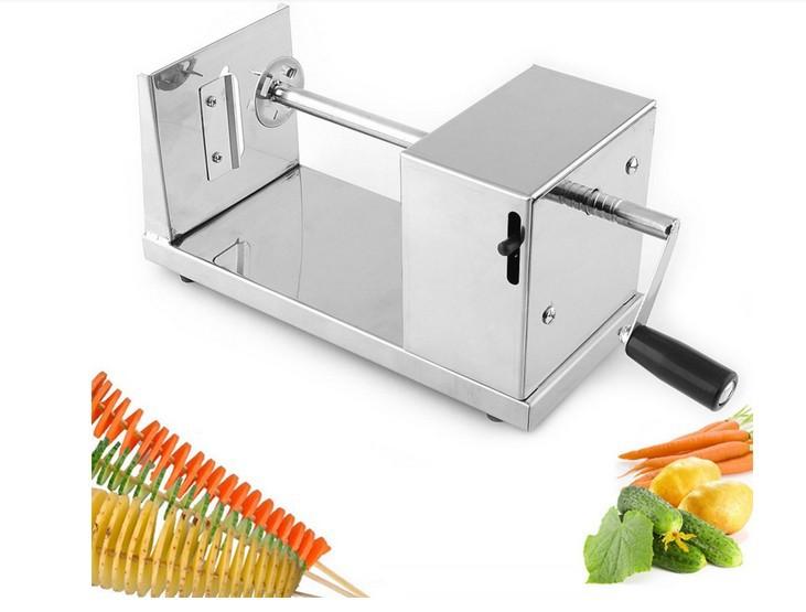 Nutcracker ferramentas de transporte atacado New Professional aço inoxidável Manual de espiral batata Chips Twister Hot vendas de alimentos Slicer(China (Mainland))