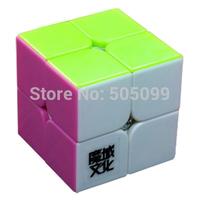 YJ MoYu LingPo 2x2x2 Stickerless Magic Cube Pink Version