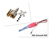 xxd a2212 1000kv motor brushless +2-4S 30AMP 30A SimonK firmware Brushless ESC multicopter 450 x525 quadcopter