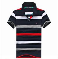 Free shipping new 2014 printed cotton short sleeve POLO shirt leisure fashion brand US designer POLO Tomy shirt, tm14