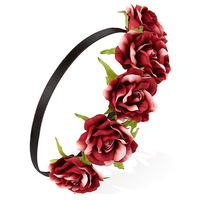 Night beach flower ribbon headband roses bridal bridesmaid jewelry photographed holiday wreath ribbon accessories