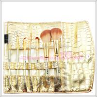 Free shipping 7 PCS Gold MakeUp Brush sets kits