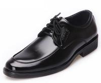 2014 new arrive men's fashion Oxfords shoes soft  leather business wedding Flats shoes for men office career black shoes LBX30