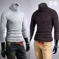 Hotsale Autumn and winter men sweater rabbit fur cashmere slim male basic turtleneck M-XXL