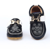 4C032 2014 hot Fashion children 100% Genuine Leather shoes boy&girl Kids Casual slip one Sneakers brand flats loafers shoes