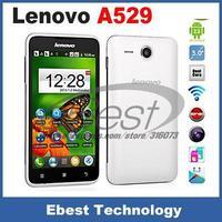 Hot Sale Original Seal Lenovo A529 Smart Mobile Phone Android 2.3.6 Dual Core MT6572A 1.3 GHz Dual Sim  Black White cheap price