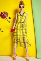 Silk Chiffon Dress-1747/Fashion Women Party Dresses/2014 Summer New Desigual Bohemian Long Dress/S,M,L