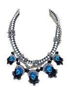 2014 Casting Luxurious Resin Rhinestone Drill Statement Women Necklace Pendant led Shourouk Thick Geometric big Jewelry to Soar