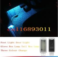 Free Shipping  Assembly Door light Glove Box lamp Tail Box Lamp Foot Light For Audi A6L Q5 A4L A7 A5 Q3 Q7 TT S5