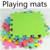 Wholesale free shipping Non toxic  soft EVA material 30x30x0.8CM split joint floor crawl/creeping/playing mats/cushion 10pcs/set