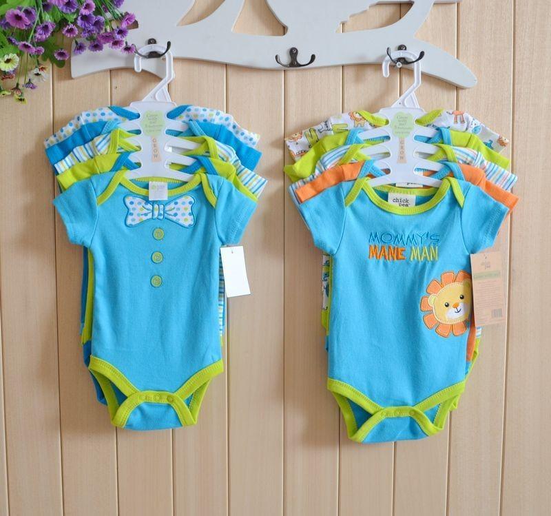 2014 Carters Short Sleeve Baby Boy Girl Cotton Bodysuits Clothing Carter Newborn Clothes Kids Bodysuit 0-9M Free Shipping U-4(China (Mainland))