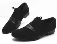 2014 new arrive men's fashion Oxfords shoes nubuck leather shoes business wedding Flats shoes for men office career shoes LBX25