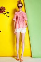 Silk Blouse-1760/Fashion OL Women Tops/2014 New Spring&Summer Exclusive Fashion Desigual/S,M,L