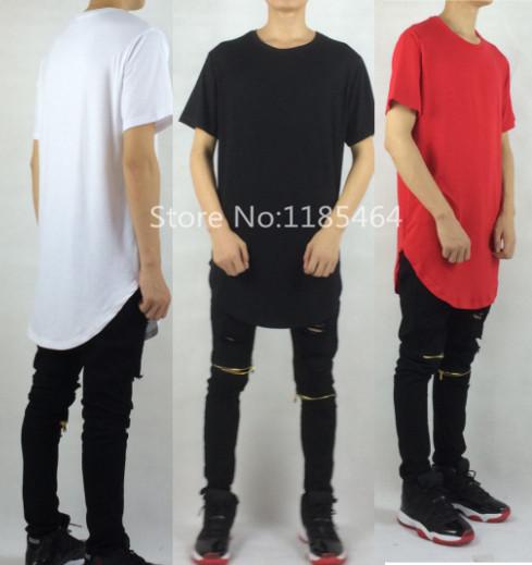 Oversized extended t shirt hop hop kanye west brand designer clothes