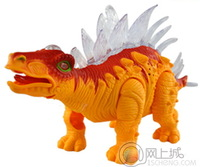 Model simulation animal electric toy stegosaurus    can move with voice and lighting effect 6638