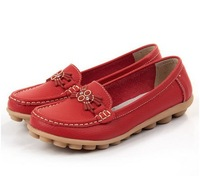 Free shipping the new spring 2014 beef tendon bottom doug pregnant women shoes Mother documentary shoe leather flat