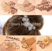 Crystal hairpin Fashion hair ornaments  hair combs  Free shipping
