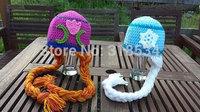 Handmade Children Kids Crochet Custom made Girl Minion Hat  FREE SHIPPING