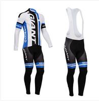 Hot sale/New Arrival/2014 GIANT Long Sleeve Bike/ Cycling Jerseys+bib pants(or pants)/Cycling Suit/Cycling Wear/-WL14GA002