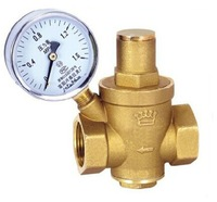 "NEW 3/4"" Brass DN20 water pressure regulator with pressure gauge,pressure maintaining valve,water pressure reducing valve prv"
