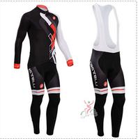 Hot sale/New Arrival/2014 CASTEL Long Sleeve Bike/ Cycling Jerseys+bib pants(or pants)/Cycling Suit/Cycling Wear/-WL14CA002