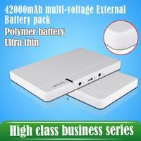 New Popular 42000mAh power bank Multi-Voltage 5V 12V 16V 19V External battery phones tablets laptop bateria externa battery pack