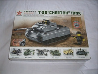 2014 New 80037 T-35 tanks cheetah. Assembling toys. Stimulate children's educational force