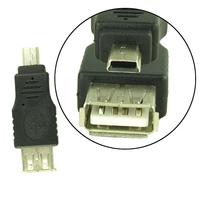 5X MINI USB Male To 2.0 USB Female Adapter UA123