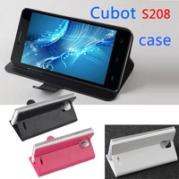 Free shipping    Leather PU case for Cubot S208 case