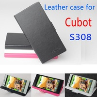 Free shipping    Leather PU case for Cubot S308 case