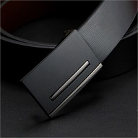 2014 new!Fashion Brand Name Men Belts Genuine Leather Business Formal Pure Smooth Buckle Cowhide Belt