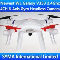 New Arrival WL V353 Galaxy Headless Mode 2.4G 4.5CH 6-Axis GYRO FPV RC Quadcopter UFO VS Walkera X350 PRO DJI Phantom 2 Ar.Drone