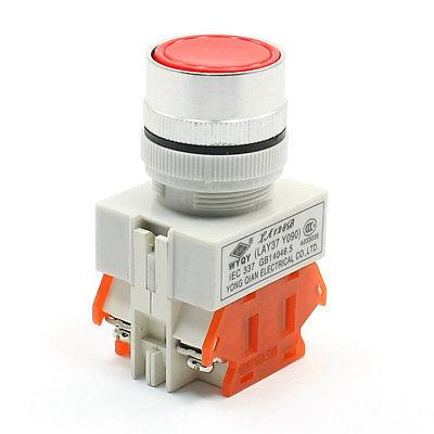 Панельные красная кнопка мгновенного DPST NO + но нз переключатель 660 В 10A 10a 660 в 4 терминал фиксации 2 позиция nc dpst поворотный переключатель ваттной 2 ключ