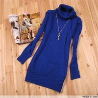 new 2014 brand girls sweater autumn winter Thick large lapel Slim package hip sweater for women r854