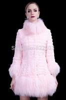 The new Dutch rabbit wool seven long sleeve in rabbit fur splicing