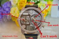 Atmospheric clock Business Brand Fashion Men Leather Watches Famous Military LED digital Sports Quartz DZ 7126/7261 Male Clock