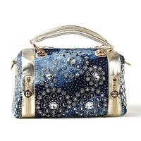 free shipping new fashion  woman  handbag round diamond shining bling bling rhinestone  shoulder cross-body handbag party