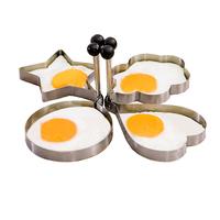 2014 new arrivel Stainless steel omelette device omelettes mouldd kitchen helper egg model 4 PCS /set  funny for children