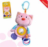 Hessie Brand New 2014 Baby Plush Toy Multifunctional Kawaii Dog Design Stuffed Plush Toy Baby Teether Free Shipping