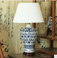 Free Shipping 2014 pastoral ceramic lamp bedroom bedside lamps classical Ming porcelain