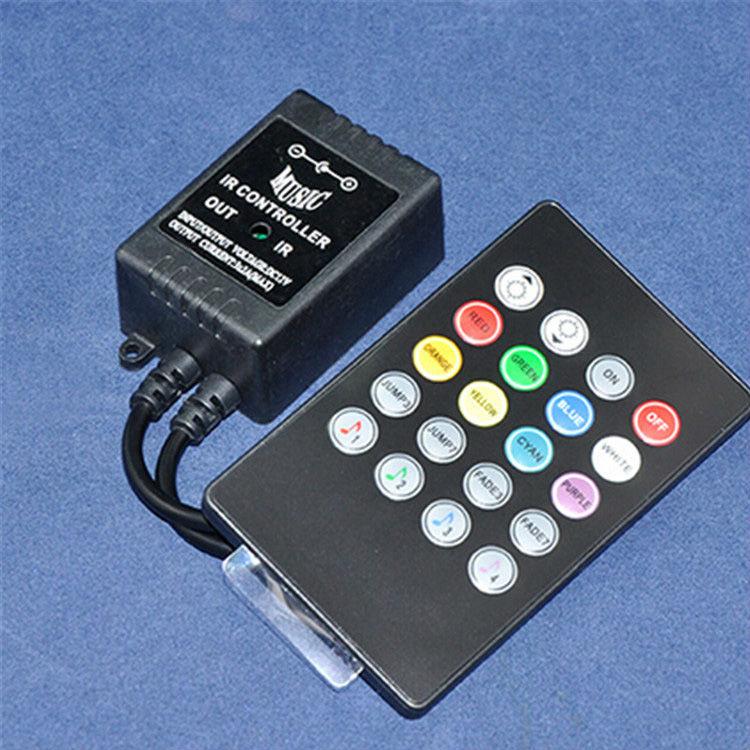 20keys IR LED RGB music controller Music LED Controller,DC12V2A*3 channel output RGB led strip lights YSL-IRMUSIC Free shipping(China (Mainland))