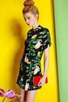Silk Dress-1734/Fashion Women Party Dresses/2014 Summer New Desigual Vintage Dress/S,M,L