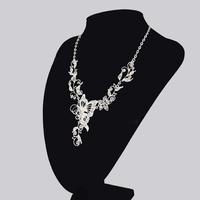 Fashion Alloy Rhinestone Necklace Earring Set,Rhinestone Wedding Jewelry Set Free Shipping sky-j119