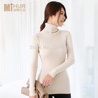 2014 women's slim medium-long turtleneck sweater thickening sweater1499
