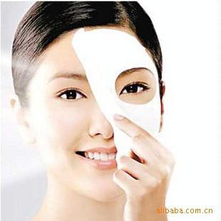 10pcs/lot Skin Face Care DIY Facial Paper Compress Masque Mask free shipping(China (Mainland))